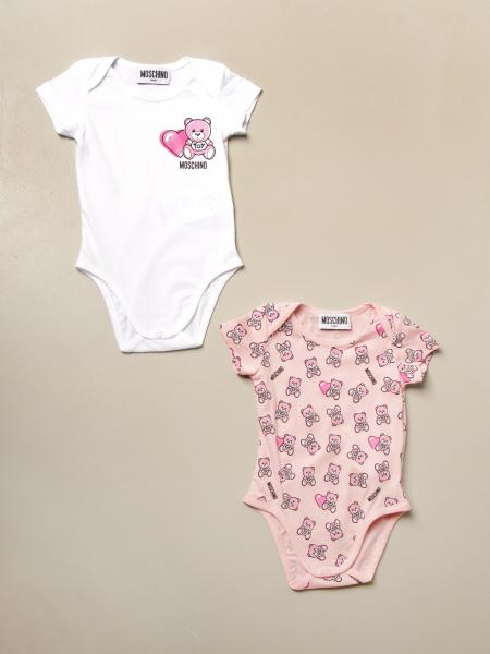 Set of 2 Moschino Baby cotton bodysuits