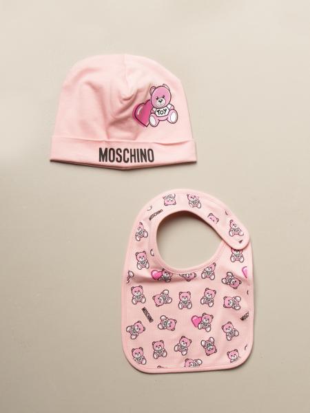 Moschino Baby hat + bib set