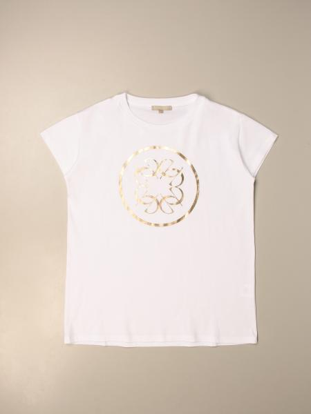 Elie Saab: Elie Saab T-shirt in cotton with laminated print