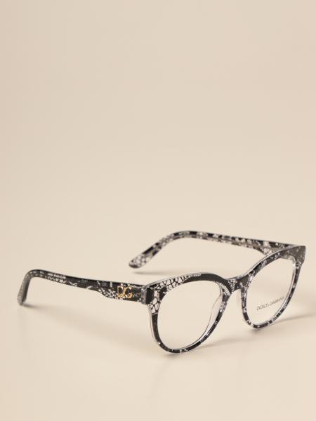 Occhiali da vista Dolce & Gabbana in acetato e pizzo