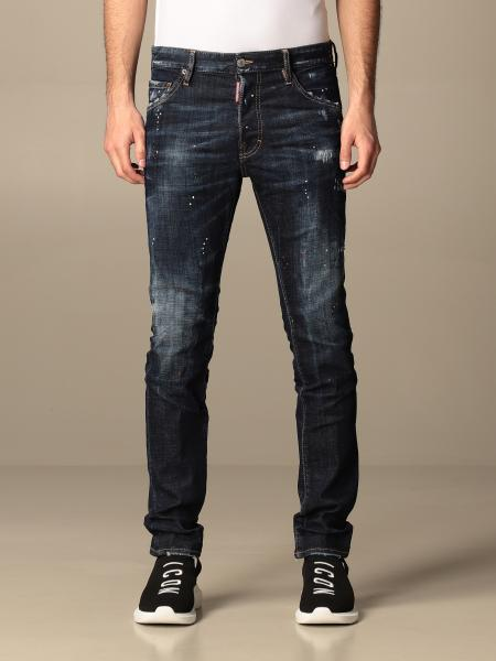 Dsquared2 jeans in stretch used denim with rips