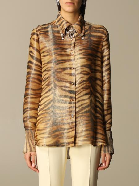 Ermanno Scervino: Ermanno Scervino shirt in animalier silk blend