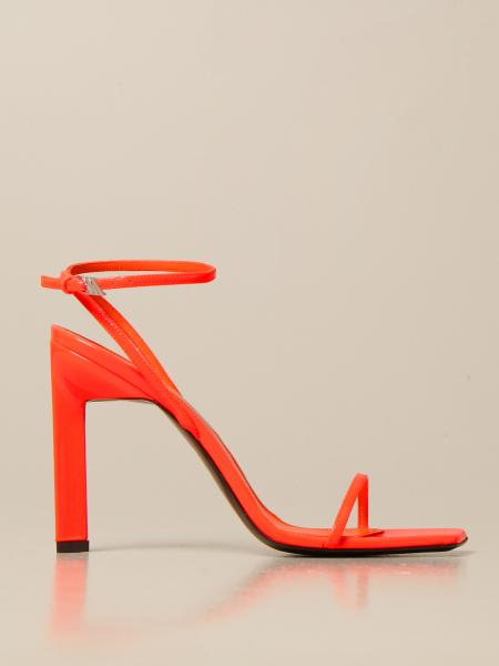 The Attico sandals in patent leather