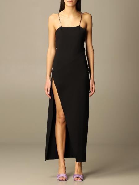 The Attico: The Attico long dress with metal mesh straps