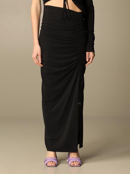 The Attico: The Attico long skirt with side drawstrings