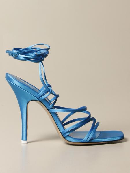 The Attico: The Attico sandal in satin