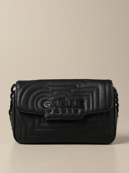 Gaëlle Paris shoulder bag in quilted synthetic leather with logo