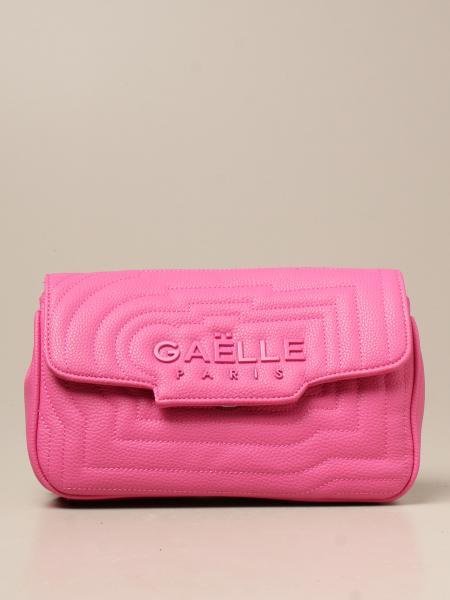 Borsa a spalla Gaëlle Paris in pelle sintetica trapuntata con logo