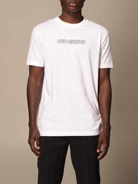Off White cotton t-shirt with back print