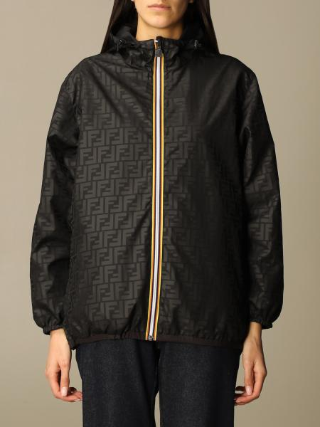 Fendi women: K-way x Fendi reversible nylon jacket with FF monogram