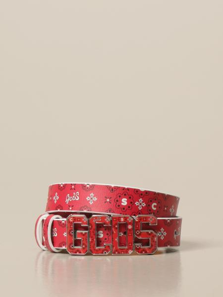 GCDS leather belt with print