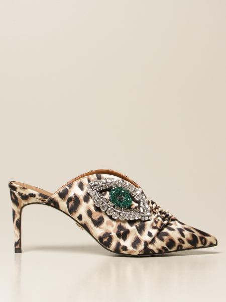 Kurt Geiger London: Mule Kurt Geiger London in tessuto animalier
