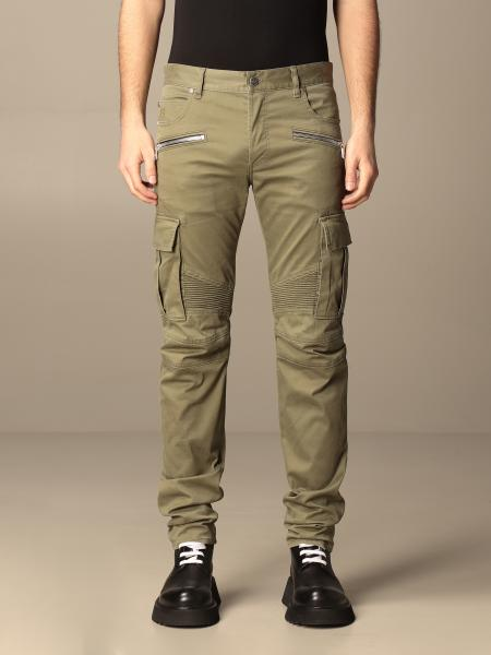 Balmain trousers with zip and patch pockets