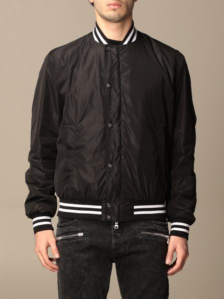 Balmain nylon bomber jacket with logo