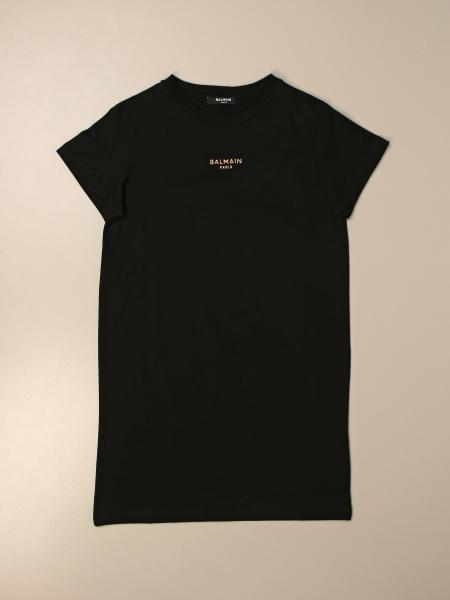 Abito a t-shirt Balmain in cotone con logo