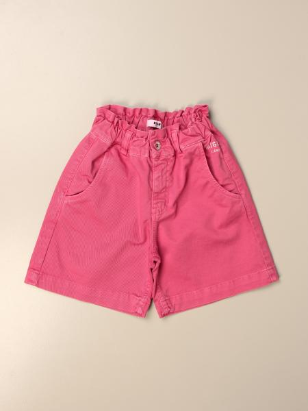 Msgm Kids shorts in cotton blend