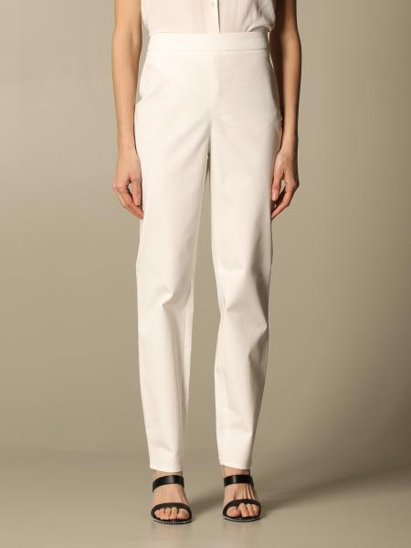 Boutique Moschino: Moschino Boutique classic trousers in cotton blend