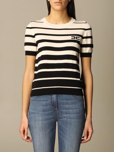 Elisabetta Franchi crew-neck sweater with bands