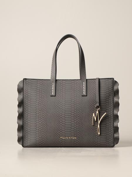 Manila Grace handbag in synthetic leather with crocodile print