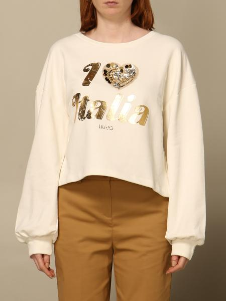 Liu Jo crewneck sweatshirt with laminated writing