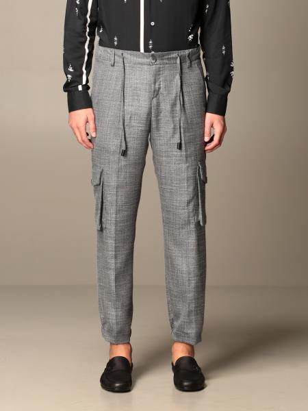 Alessandro Dell'acqua men: Alessandro Dell'acqua trousers with drawstring