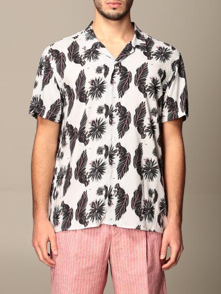 Alessandro Dell'acqua men: Alessandro Dell'acqua patterned shirt