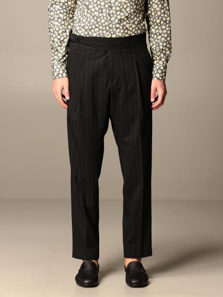 Alessandro Dell'acqua men: Alessandro Dell'acqua pinstriped trousers