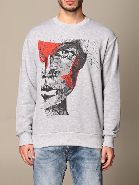 Alessandro Dell'acqua men: Alessandro Dell'acqua crewneck sweatshirt with print