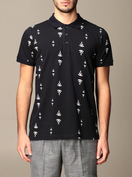 Alessandro Dell'acqua men: Alessandro Dell'acqua polo shirt in patterned cotton