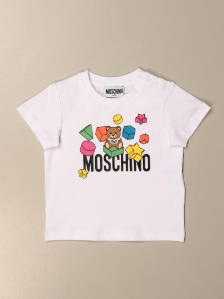 T-shirt Moschino Baby in cotone con teddy