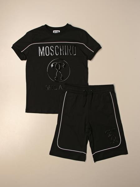 Completo t-shirt + pantaloncino jogging Moschino Kid