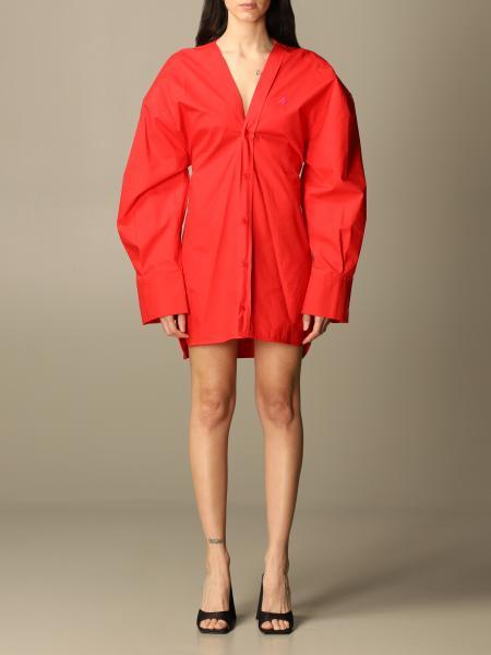 The Attico: The Attico v-neck dress with maxi sleeves