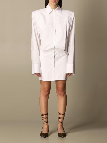 The Attico: The Attico shirt dress with maxi shoulders