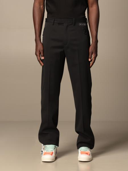 Off White trousers with zip and logo