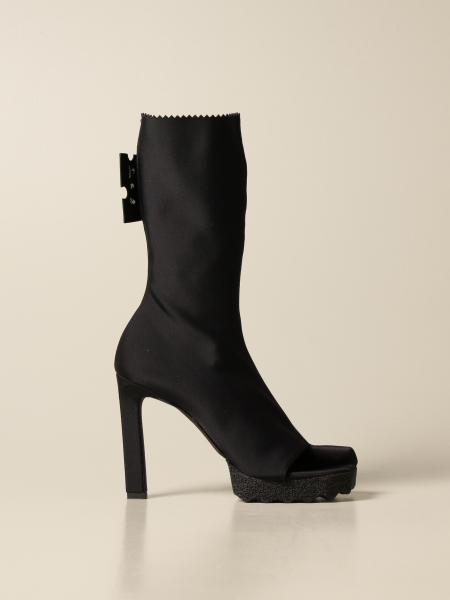 Off White women: Flat ankle boots women Off White
