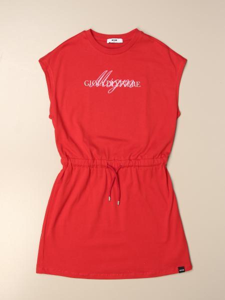 Msgm Kids cotton dress with logo