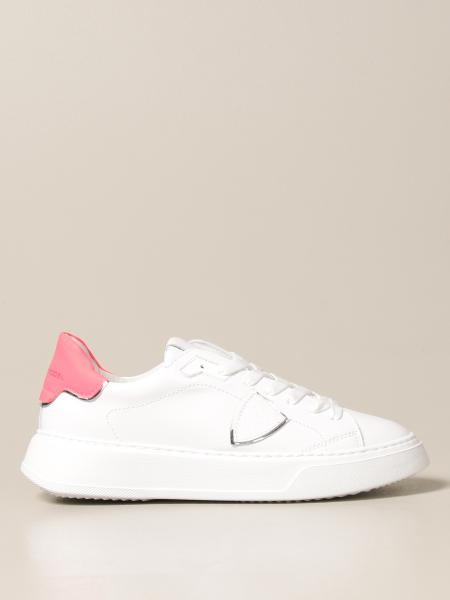 Philippe Model donna: Sneakers Temple Veau Philippe Model in pelle