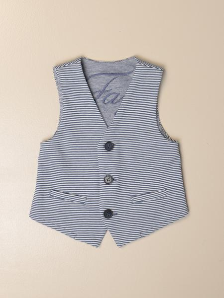 Striped Fay single-breasted vest