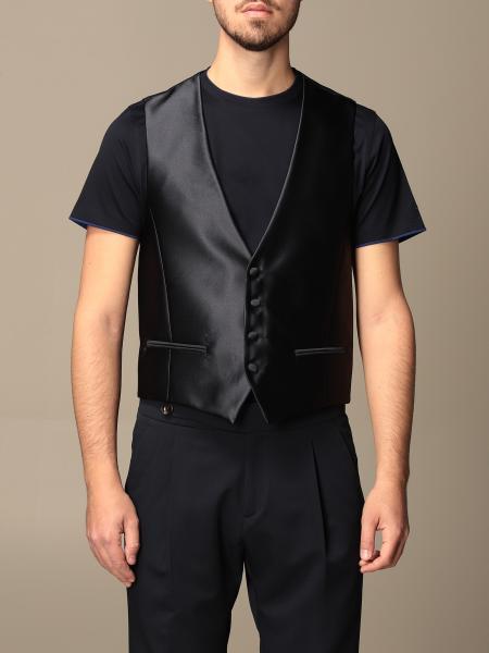 Alessandro Dell'acqua men: Alessandro Dell'acqua satin waistcoat