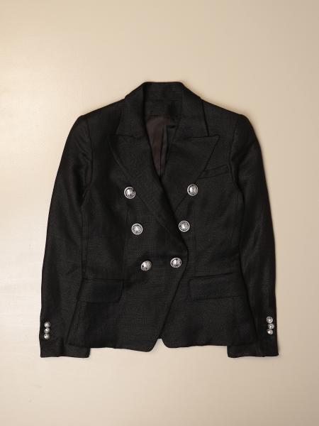 Balmain double-breasted jacket with metal buttons