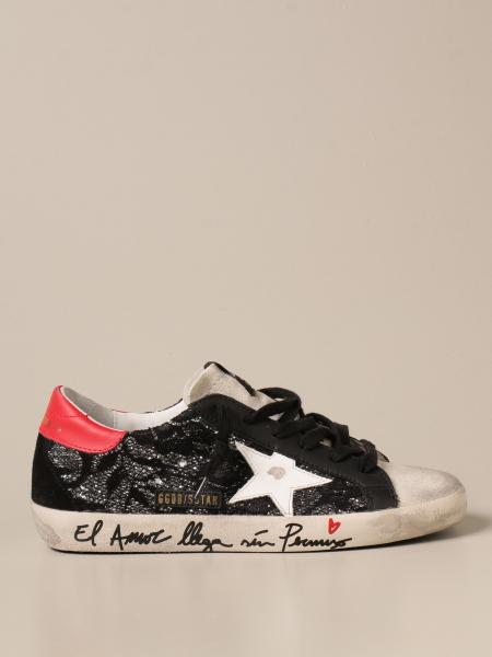 Golden Goose women: Superstar Golden Goose sneakers in lace and glitter