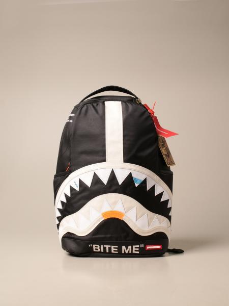 Sprayground: Sprayground backpack in canvas with carved shark mouth