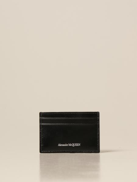 Alexander Mcqueen: Porta carte di credito Alexander McQueen in pelle lucida