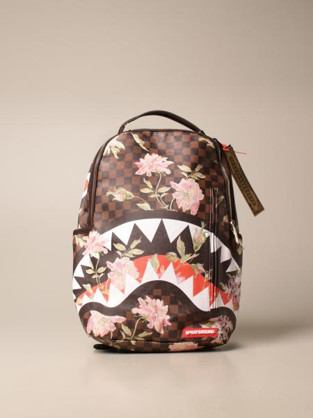 Sprayground: Sprayground backpack in vegan leather with shark mouth and flowers