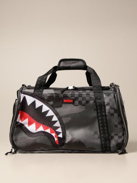 Sprayground: Sprayground carrier in vegan leather with sharks print