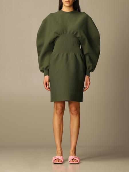 Bottega Veneta women: Bottega Veneta dress with sculptural sleeves