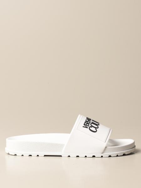 Sandalo Versace Jeans Couture in gomma con logo