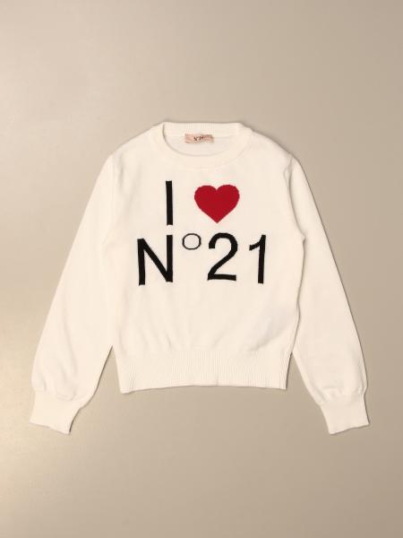 N ° 21 crewneck jumper with logo