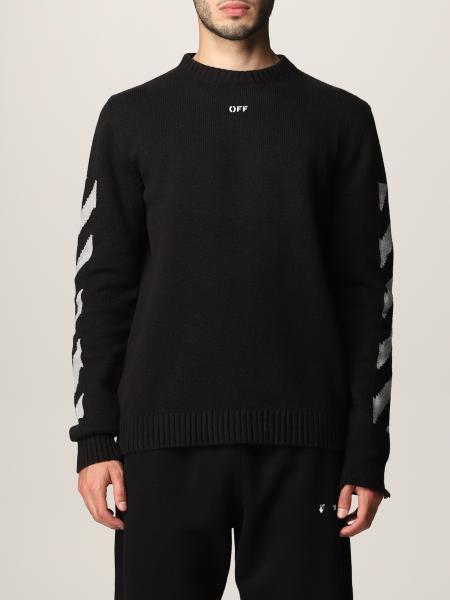 Off White cotton sweater with Frecce logo