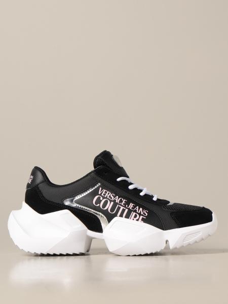 Sneakers Versace Jeans Couture in rete e camoscio con logo